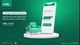 HBL Mobile Features: Cheque Book Request