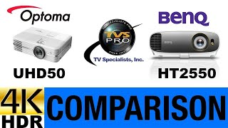 Optoma UHD50 vs BenQ HT2550 4K UHD Comparison