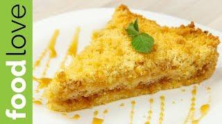 Очень простой тертый ЯБЛОЧНЫЙ ПИРОГ из песочного теста| Пирог из яблок | FoodLove