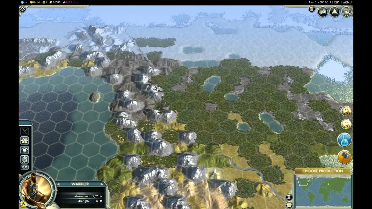 Civilization 5 1080p   The Earth Map   Huge Style   YouTube