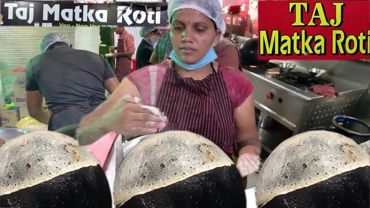 Most Popular Taj Matka Roti of Nagpur   Ultimate Lambi Roti Making   Indian Street Food