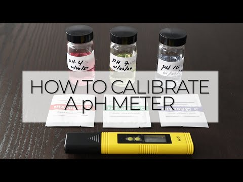 How To Calibrate A PH Meter - Testing Kit With Calibration Powders And Standard Solutions
