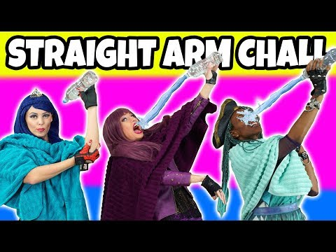 Straight Arm Challenge. With Descendants 2 Mal, Evie and Uma (Real or Fake)