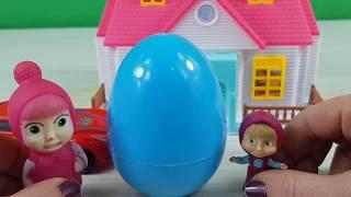 Masha Dev Sürpriz yumurta Açıyor