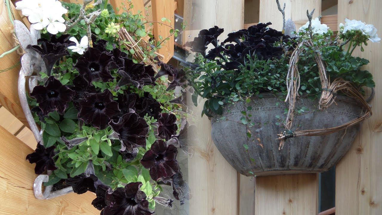 diy blumen werkstatt schwarz weiss blumen deko selber. Black Bedroom Furniture Sets. Home Design Ideas