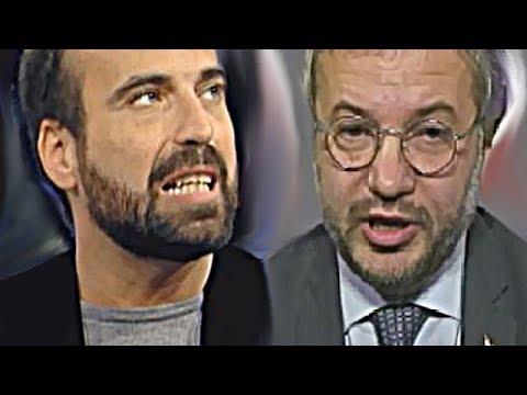 Brutale scontro Marattin vs  Borghi  [ Casalino ordina a Di Maio di non partecipare agli scontri ]