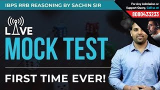 IBPS RRB Pre Reasoning Live Mock Test | Mock Paper for Reasoning | Solve with Sachin Modi