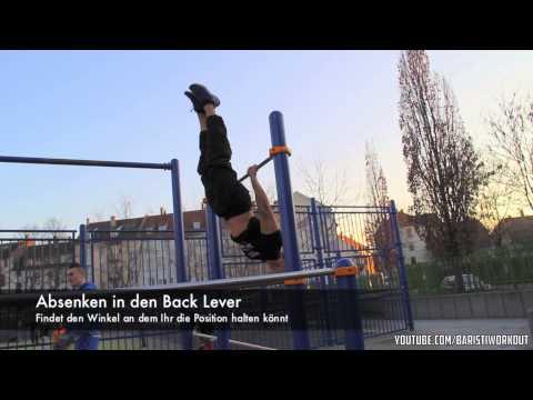Calisthenics Tutorial Deutsch: Back Lever thumbnail