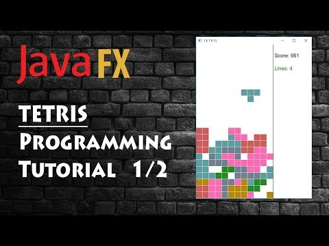 Programming Tetris Game, Java (fx) Tutorial 1/2