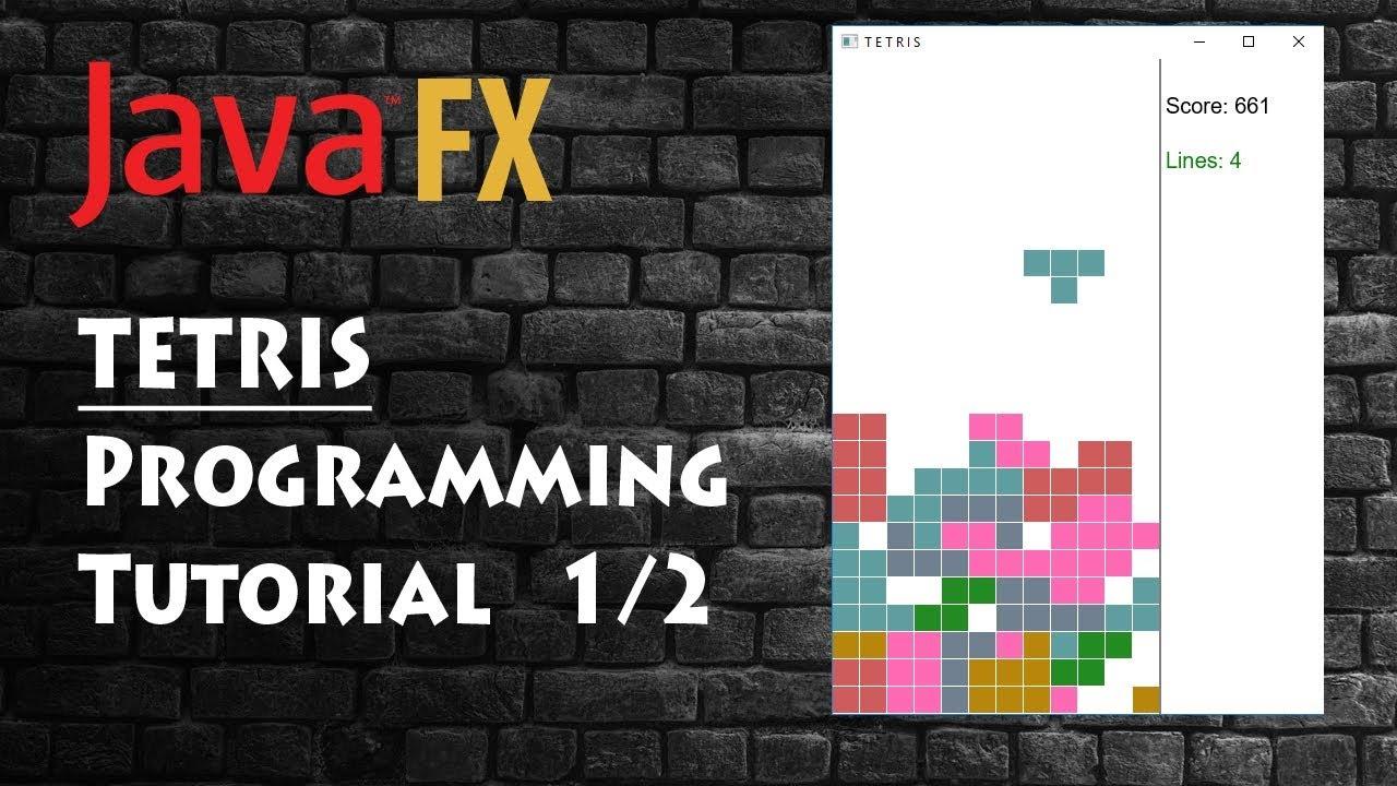 Programming Tetris Game, Java (fx) Tutorial 1/2