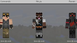 minecraft pocket edition fortnite skin pack