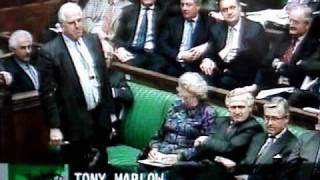 House of Commons - Betty Boothroyd pounces