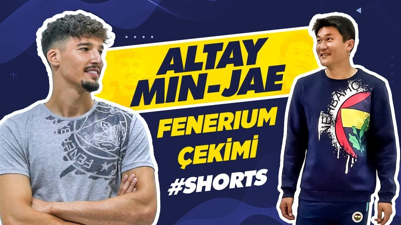 Altay & Kim Min-Jae'nin Fenerium Çekimi 📸😆 #Shorts