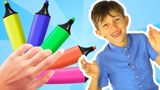 Learn Colors with Body Paint | Toddler Learning Video for Kids Color Matching Game !