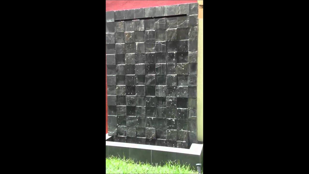 Muro llor n cantera youtube for Cascadas para jardin piedra