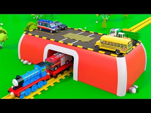 Magic Train fot Children | Vehicles - Cartoon Videos | Toy Trucks for Kids Toddlers