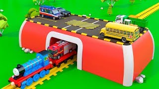 Colors for Children to Learn with Train and Vehicles - Educational Videos | Toy Trucks for Kids