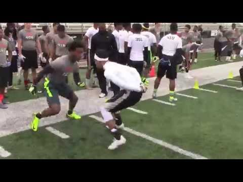 "Dallas WR vs DB ""Jam Drill"" | 2014 Nike Football Training Camp"