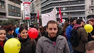 27 ноября 2014 в Афинах прошел митинг протеста профсоюзов