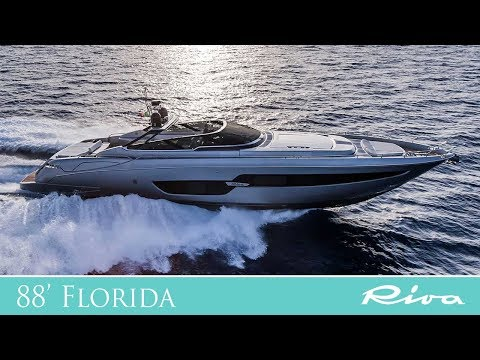 Luxury Yacht - Riva Yacht 88' Florida, the first luxury convertible yacht!