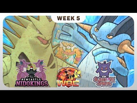 THE ULTIMATE WEATHER WAR! - Newcastle Nidokings VS Slateport Spirits - Pokémon Sun & Moon [WBE S1W5]