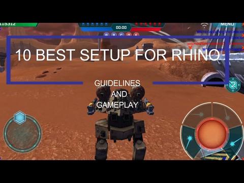War Robots Rhino Setup- Best 10 Setup For Rhino