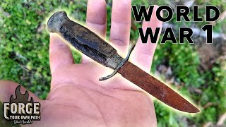 Rare Knife Restoration- World War I Trench Knife Unearthed