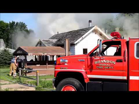 House fire, Brandon, Iowa July 3, 2017