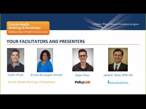 Webinar: Improving Health through Equitable Economic Development and Strategic Partnerships