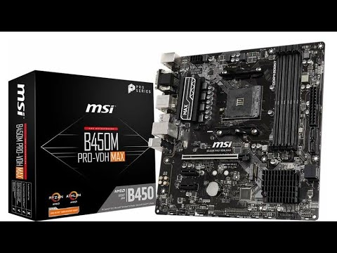 MSI B450M PRO-VDH MAX Gaming Motherboard Unboxing - YouTube