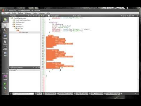 QML Qt 146 - Dialogs and Text Fields
