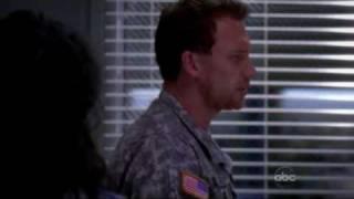 Grey's Anatomy - 5x02 - Cristina & Owen's first kiss
