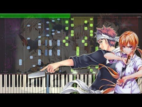 Braver  ZAQ  Shokugeki No Souma 3 OP  食戟のソーマ 餐ノ皿 OP Piano Tutorial +Midi  Sheet
