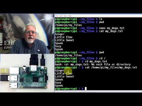 Raspberry Pi Linux Lesson 4: Creating and Editing Files with Nano Command