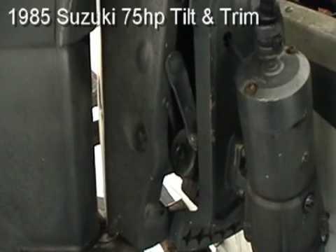 suzuki tilt and trim - YouTube