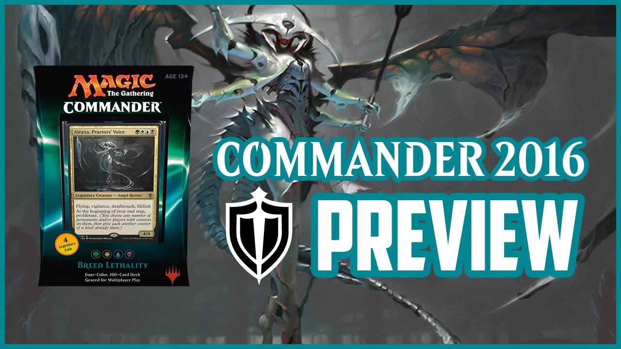 Commander 2016 Preview Breed Lethality Atraxa Praetors