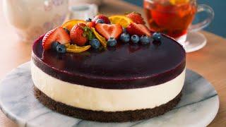 Mousse de Yogurt con Gelatina de Frutos Rojos