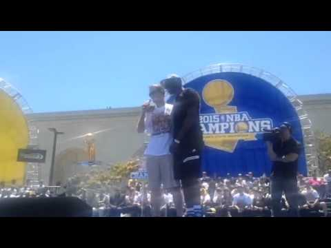 Draymond Green Teases Steve Kerr At Warriors Rally Oakland