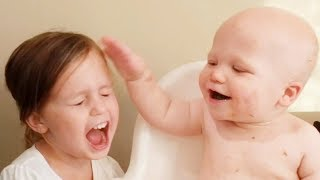 NEW 2019 Baby Siblings Playing Together Fun and Fails - Siblings Baby Video