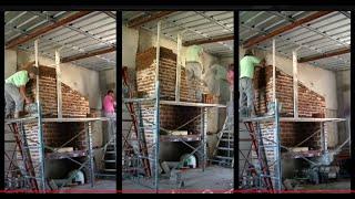 Como hacer parrillero de ladrillos
