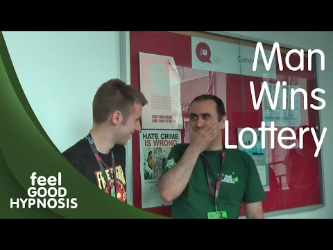 Man Wins Lottery - in hypnosis