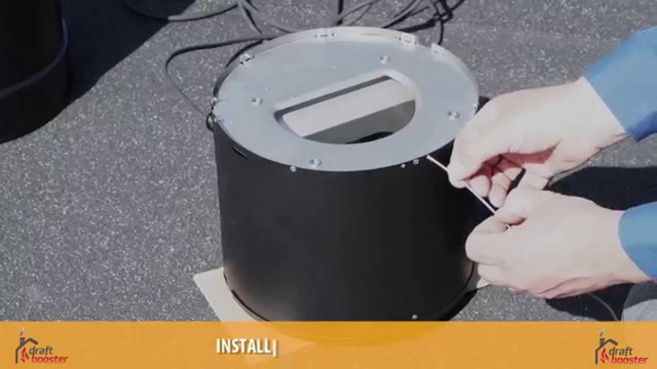 How To Install A Draftbooster Chimney Fan Youtube