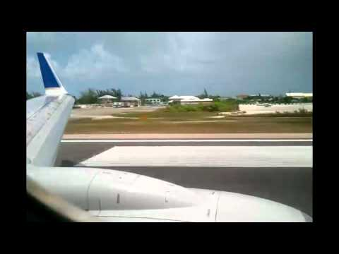 Continental Airlines Landing Turks And Caicos