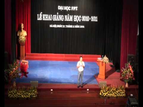 Ông Trương Gia Bình phát biểu tại Lễ khai giảng ĐH FPT.flv