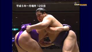 花ノ国vs智ノ花 (平成5年一月場所)