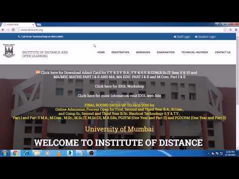 Mumbai University IDOL Registration