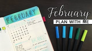 Plan With Me | February 2019 | Bullet Journal Set-up + January Flip Through