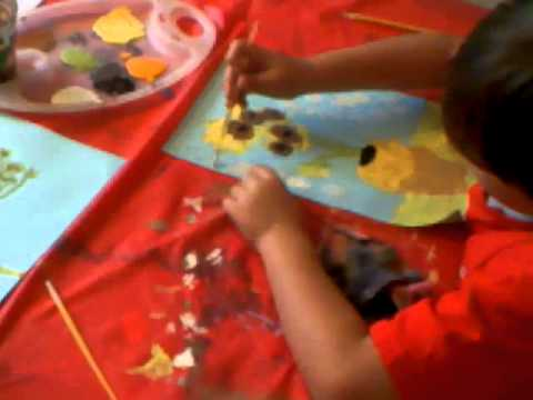 Art Workshops for Kids. Painting Van Gohg's Sunflowers.