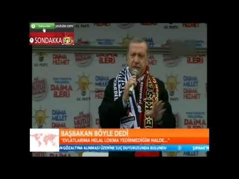 Başbakan İtiraf : Evlatlarıma Helal Lokma Yedirmedim !! AKP Eskişehir Mitingi 07.03.2014