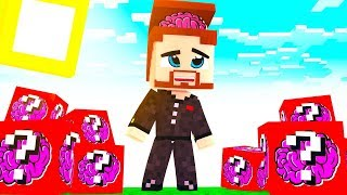 ЛАКИ БЛОК МОЗГОВ В МАЙНКРАФТЕ! - Minecraft ЛАКИ БИТВА #9